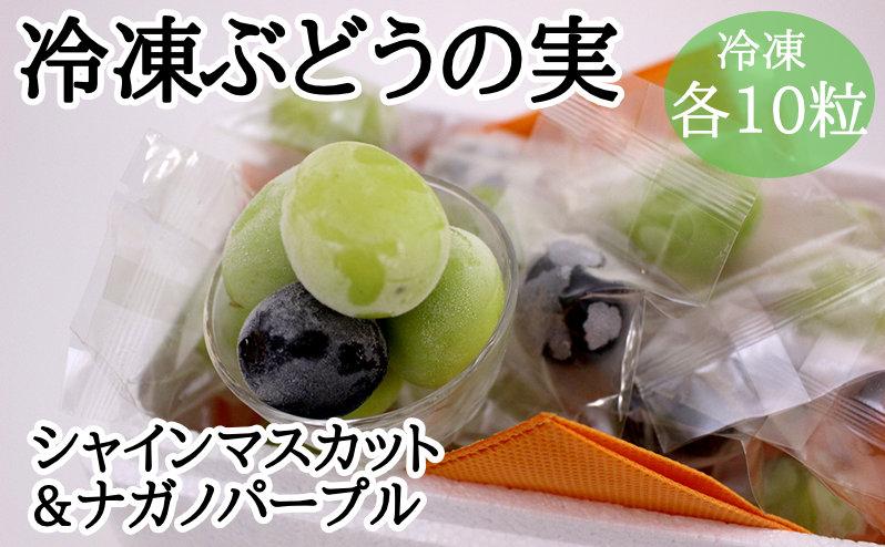 冷凍ぶどうの実 シャインマスカット&ナガノパープル